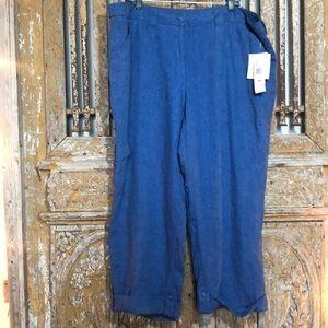 JONES NY SPORT February Linen Capri Pants CROP 22